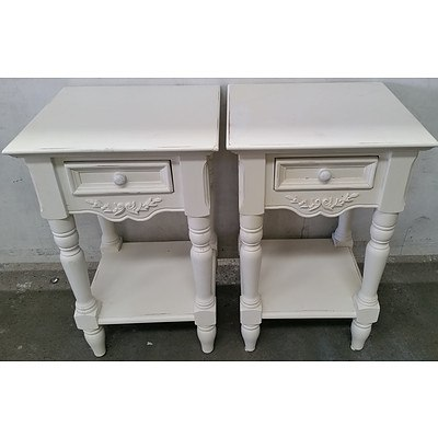 Provincial Bedside Tables - Lot of Two