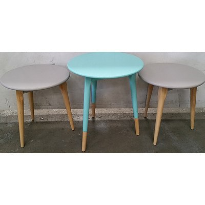 Contemporary Occasional Tables - Lot of Three