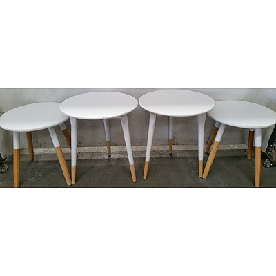 Contemporary Occasional Tables - Lot of Four