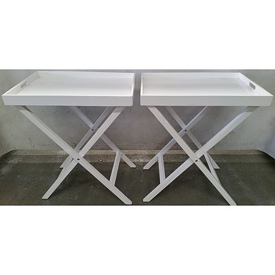 Contemporary Tray Tables - Lot of Two