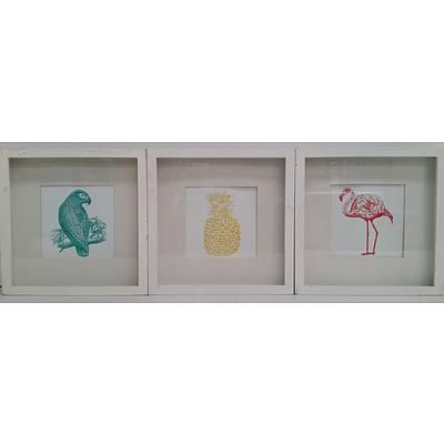 Framed Prints - Lot of Three