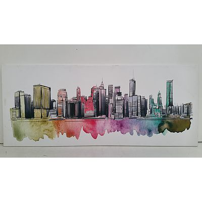 Stretched Canvas Skyline Print