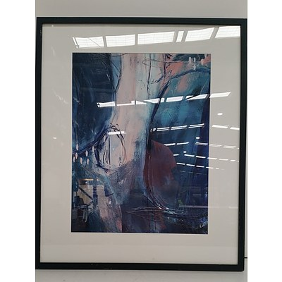 Framed Abstract Forest Print