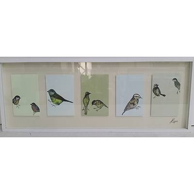 Framed Bird Montage Print