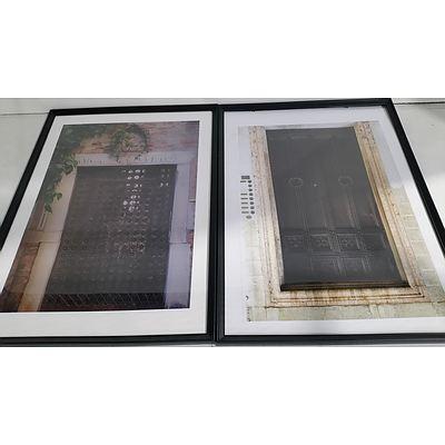 Framed Gothic Street Scene Prints - Lot of Two