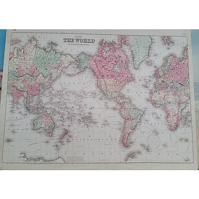 Stretched Canvas Print of The World on Mercators Projection