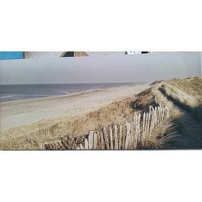 Large Stretched Canvas Beach Print