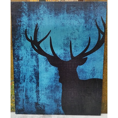 Stretched Canvas Abstract Print