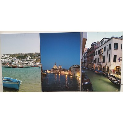Stretched Canvas City Scape Prints - Lot of Three