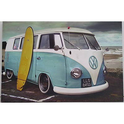 Stretched Canvas VW Combi Print