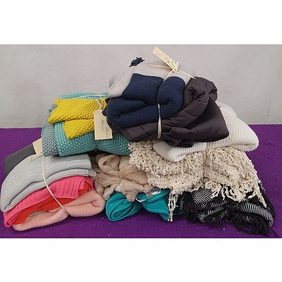 Selection of Various Bed and Lounge Throws - Lot of 13