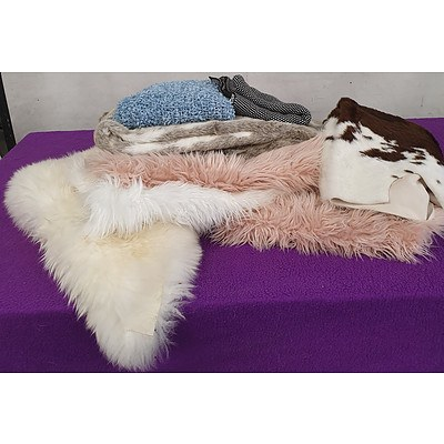 Selection of Various Bed and Lounge Throws - Lot of Eight