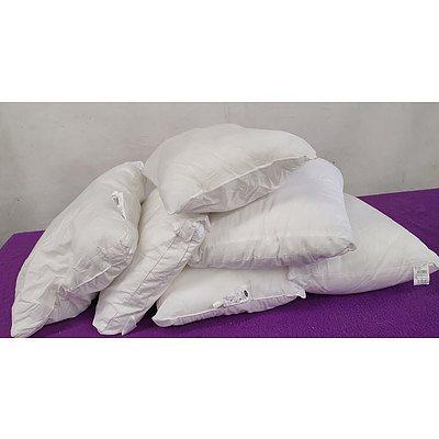 Foam Bedroom Pillows - Lot of Six