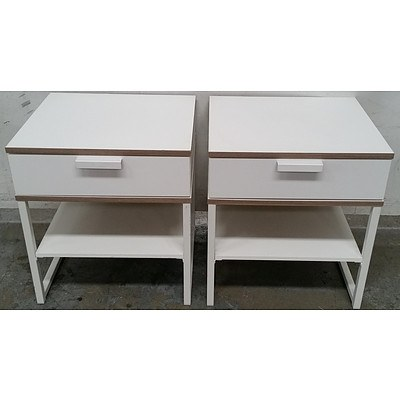 Bedside Tables - Lot of Two