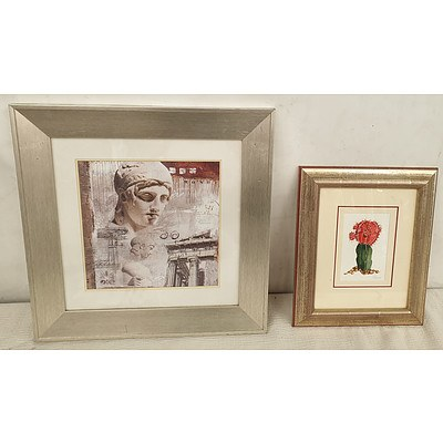 Metallic Framed Prints - Lot of Two