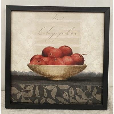 Black Framed Apple Bowl Print