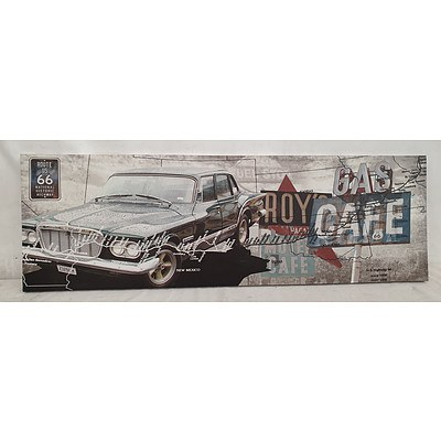 Stretched Canvas Vintage Image of Route 66 Print