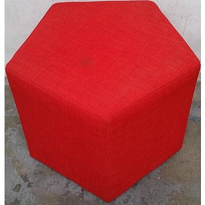 Contemporary Pentagonal Pouffe