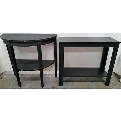 Hall Tables - Lot of Two