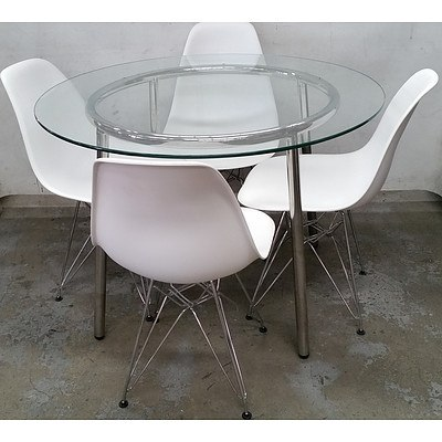 Contemporary Five Piece Dining Setting