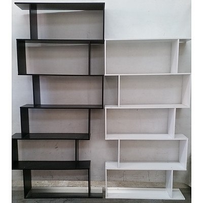 Contemporary Bookshelves - Lot of Two