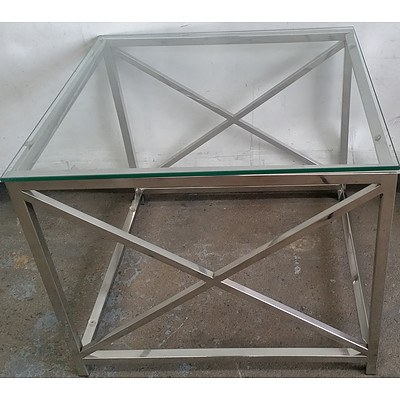Contemporary Glass Occasional Table Table
