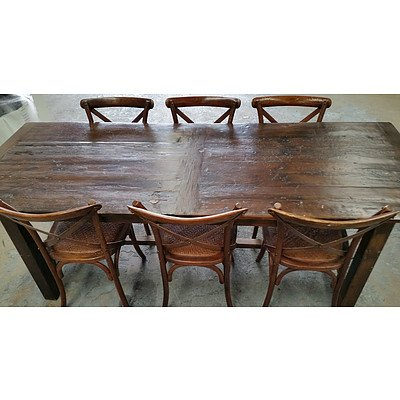 Rustic Seven Piece Dining Setting