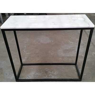 Marble Top Hall Table