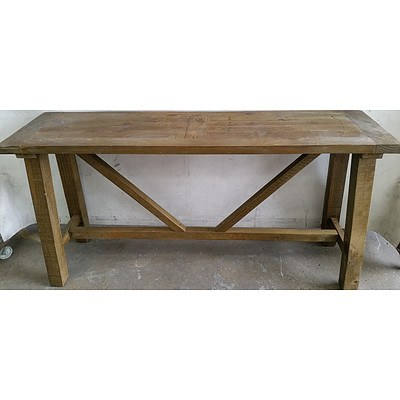 Rustic Hall Table