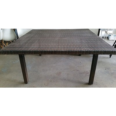 Substantial Outdoor Dining table