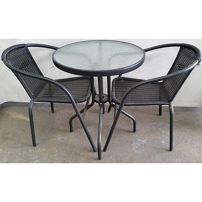 Three Piece Outdoor Dining Setting