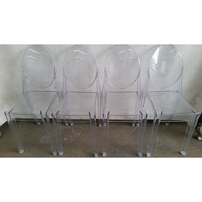 Acrylic Outdoor Chairs - Lot of Six