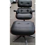 Replica Eames Occasional Swivel Armchair Chair with Swivel Ottoman