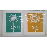 Framed Abstract Prints - Lot of Two