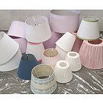 Selection of lampshades - Primarily Pink and White in Colour