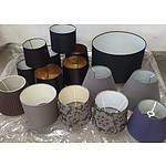 Selection of Lampshades - Primarily Black and Grey in Colour