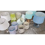 Lamps with Lampshades - Lot of Three