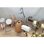 Desk Lamps and Metallic Bedside Lamps