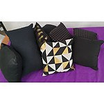 Selection of Black and Black/Gold Cushions