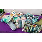 Selection of Assorted Coloured Cushions - Lot of 14