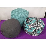 Contemporary Ottomans - Lot of Three
