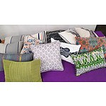 Selection of Assorted Shaped, Coloured and Patterned Cushions - Lot of 13