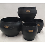 Recycled Tyre Plant Pots - Lot of Four