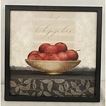 Black Framed Apple Bowl Print