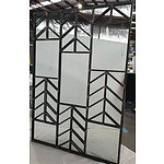 Ornamental Metal Framed Wall Mirror
