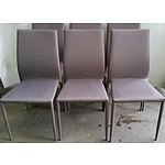 Contemporary Outdoor Dining Chairs - Lot of Six