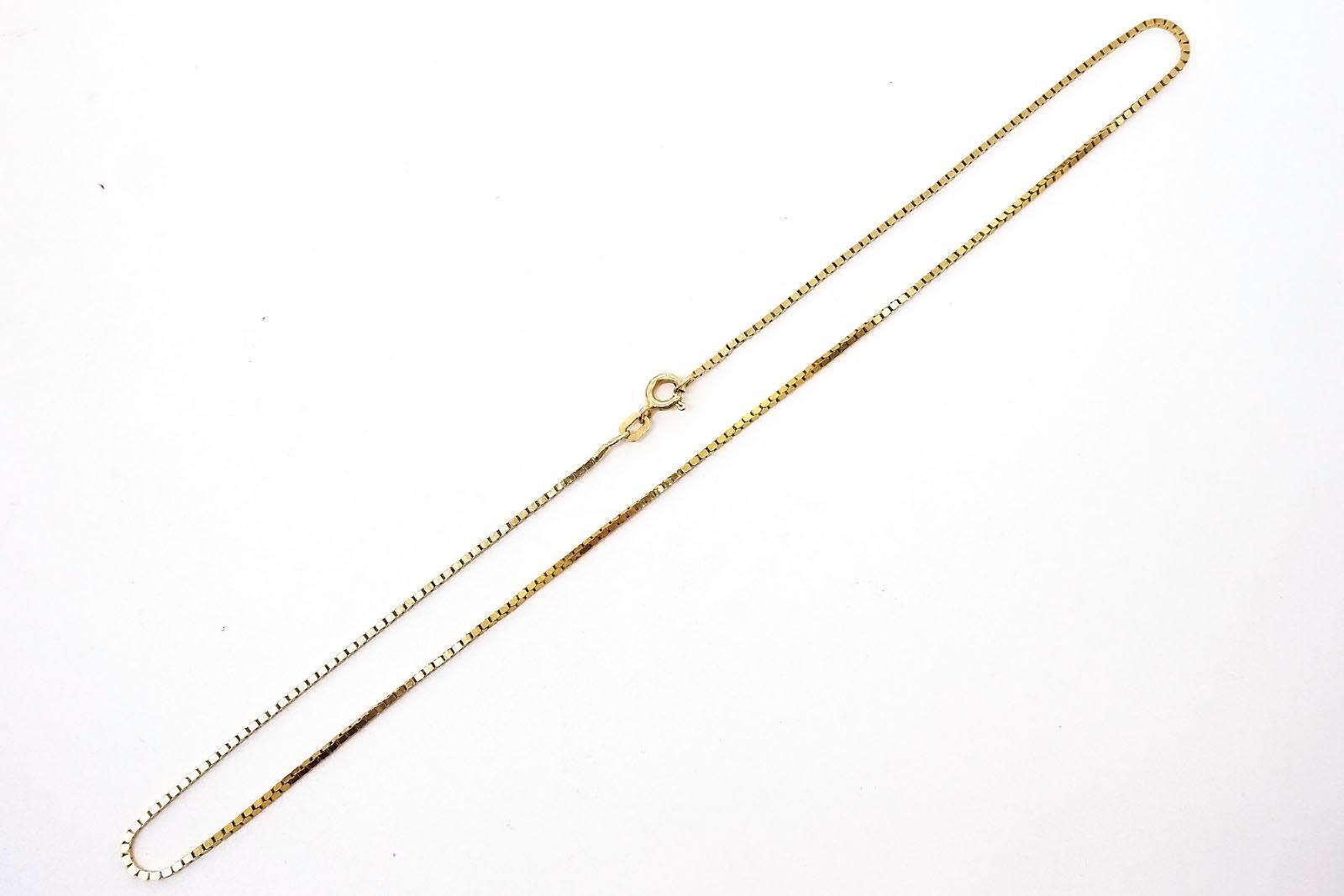 '14ct Yellow Gold Box Chain, 5.1g'