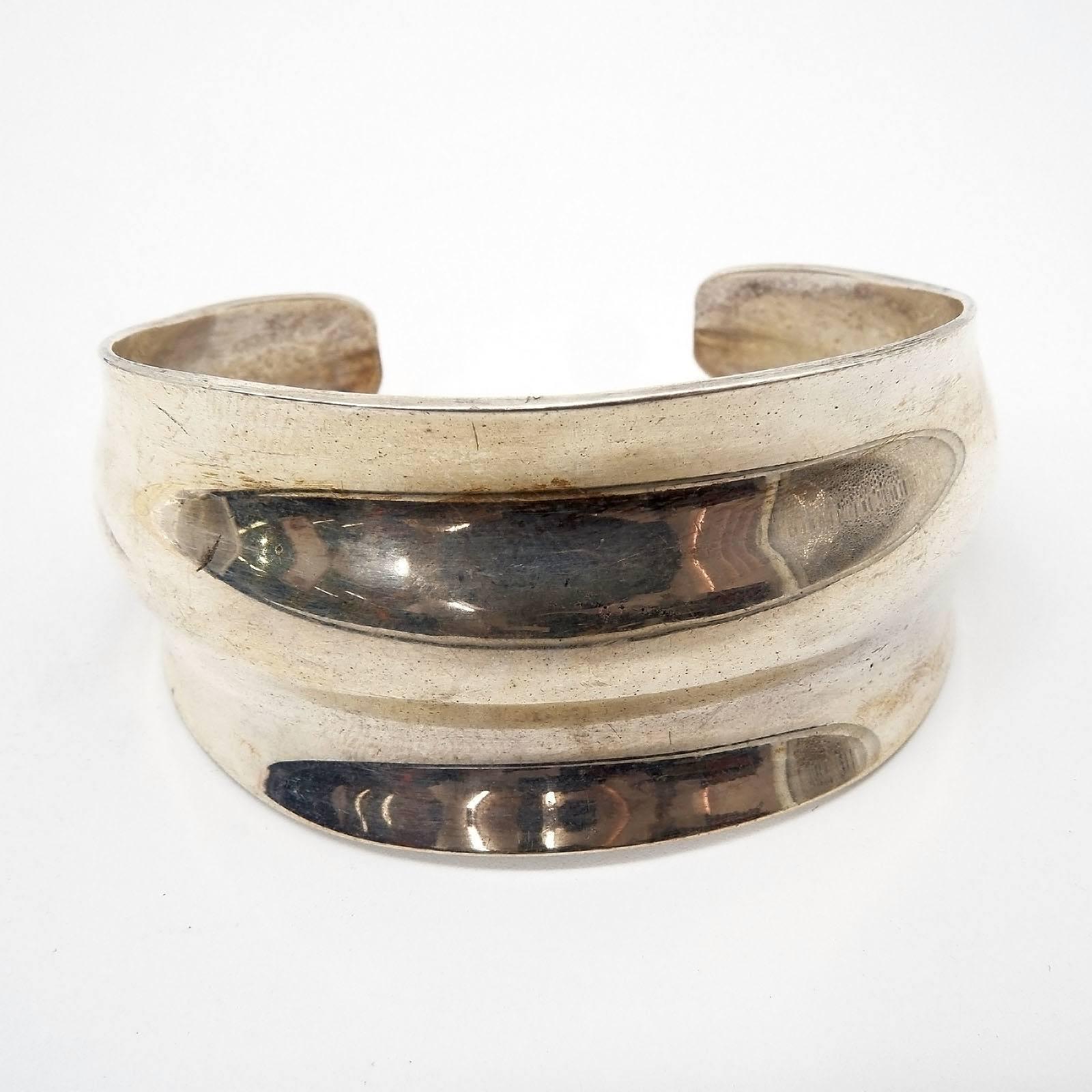 'Gerhardt Sterling Silver Cuff Bangle'