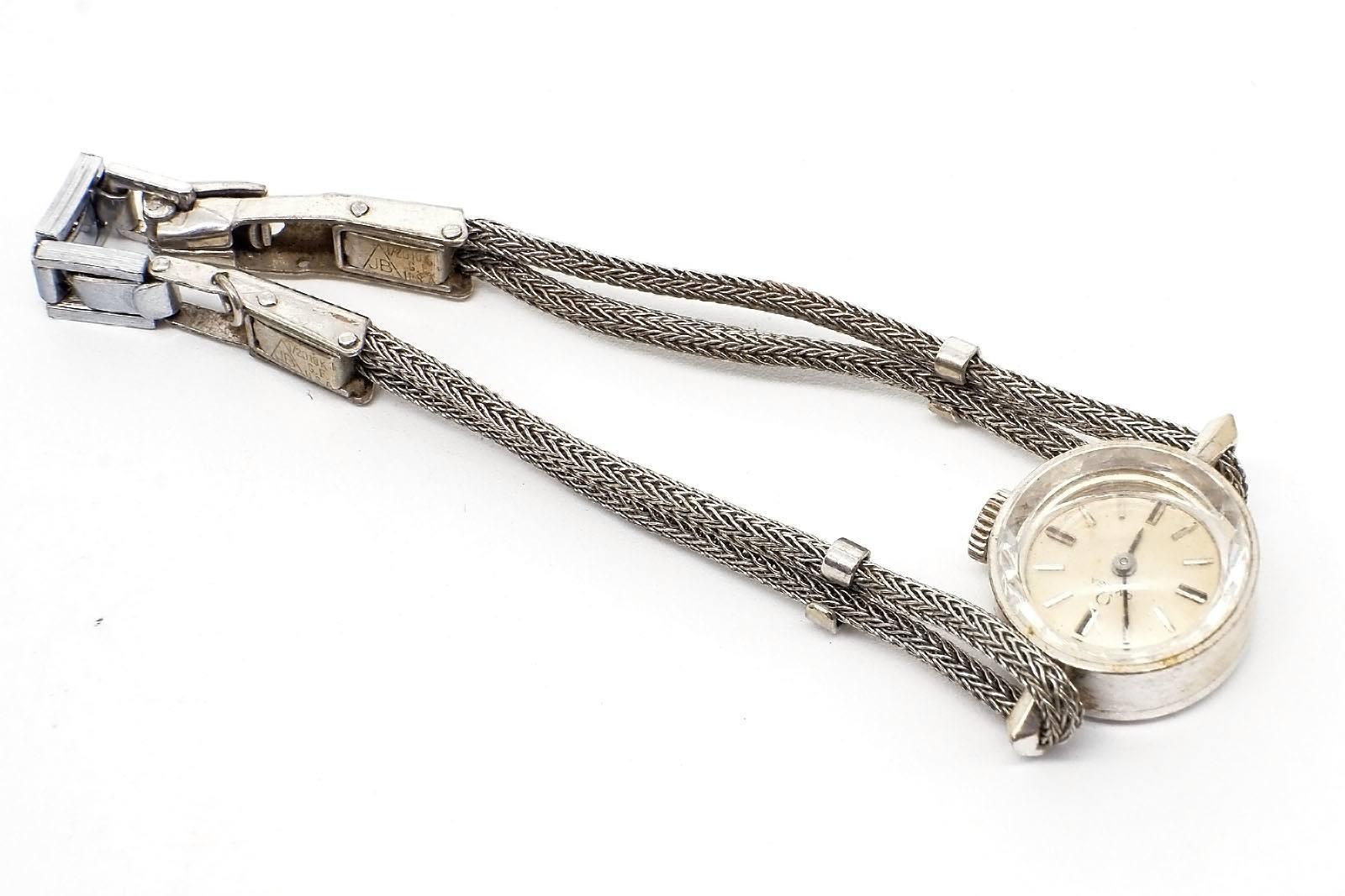 '14ct White Gold Cased Omega Ladies Wrist Watch'