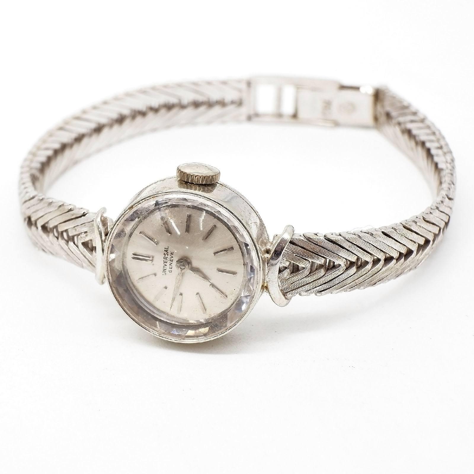 '18ct White Gold Swiss Universal Ladies Wrist Watch, 18.5g'